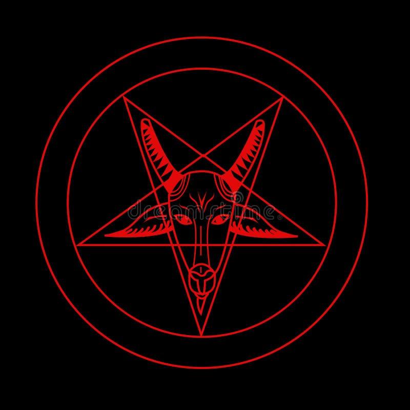 Símbolo do Pentagram ilustração stock