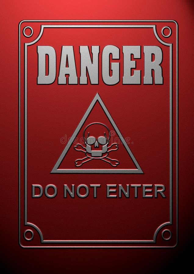 Símbolo do perigo ilustração do vetor