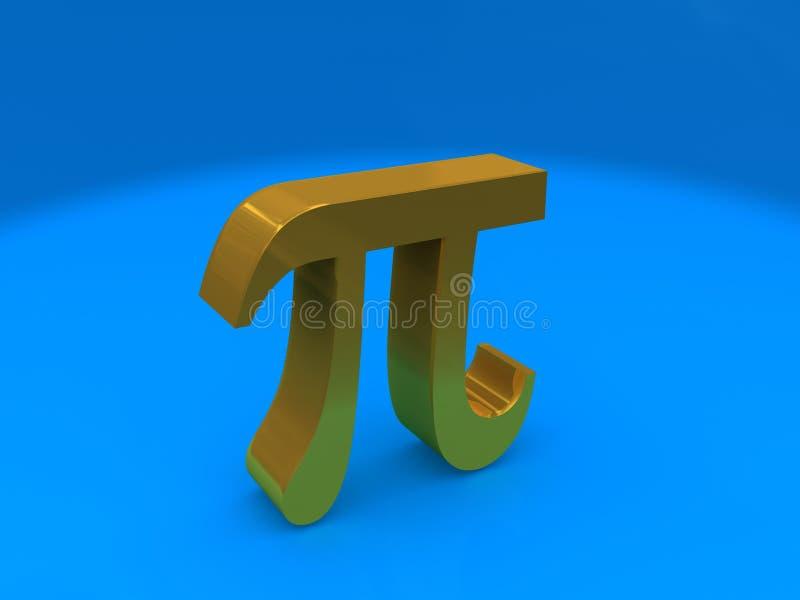 Símbolo do Pi ilustração do vetor