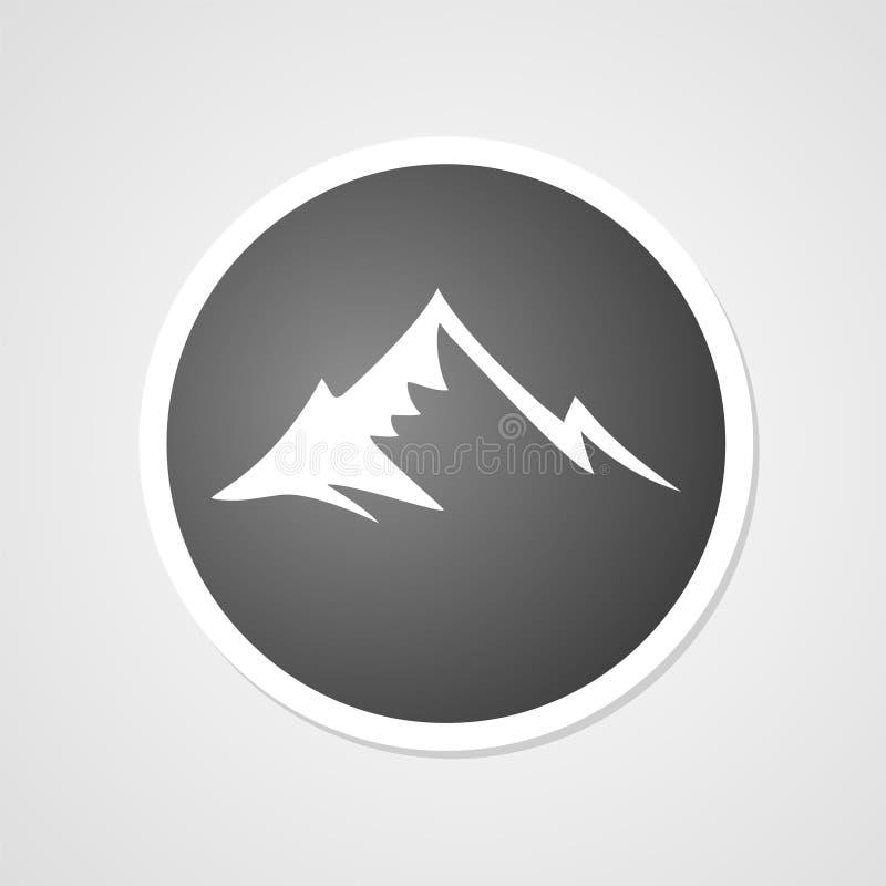 Símbolo do pico de montanha ilustração do vetor
