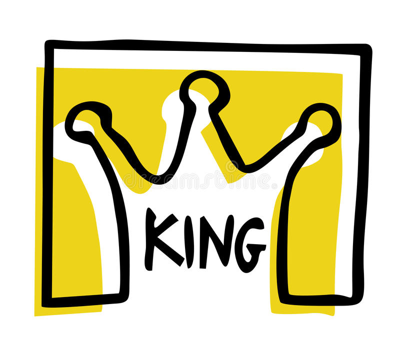 Símbolo do rei ilustração royalty free