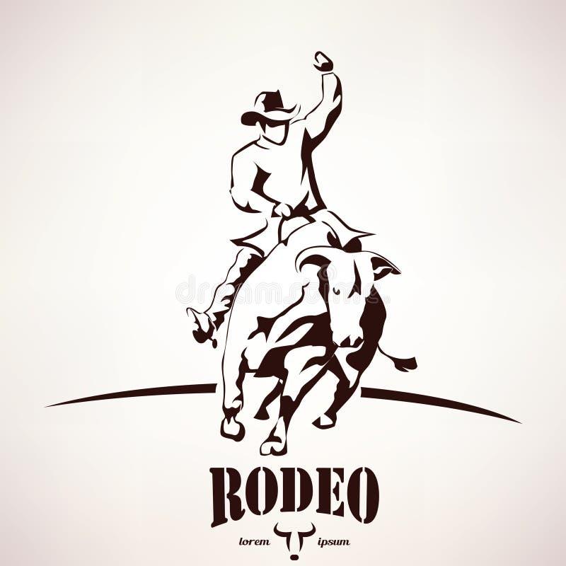 Símbolo do rodeio de Bull ilustração royalty free