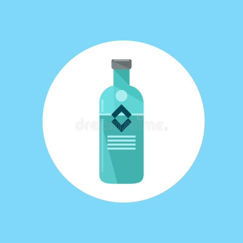 Símbolo do sinal do ícone da bebida alcoólica ilustração royalty free