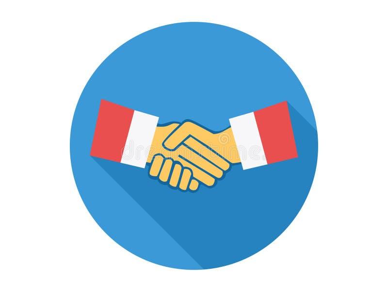 Símbolo do sinal do ícone do vetor do aperto de mão ilustração royalty free