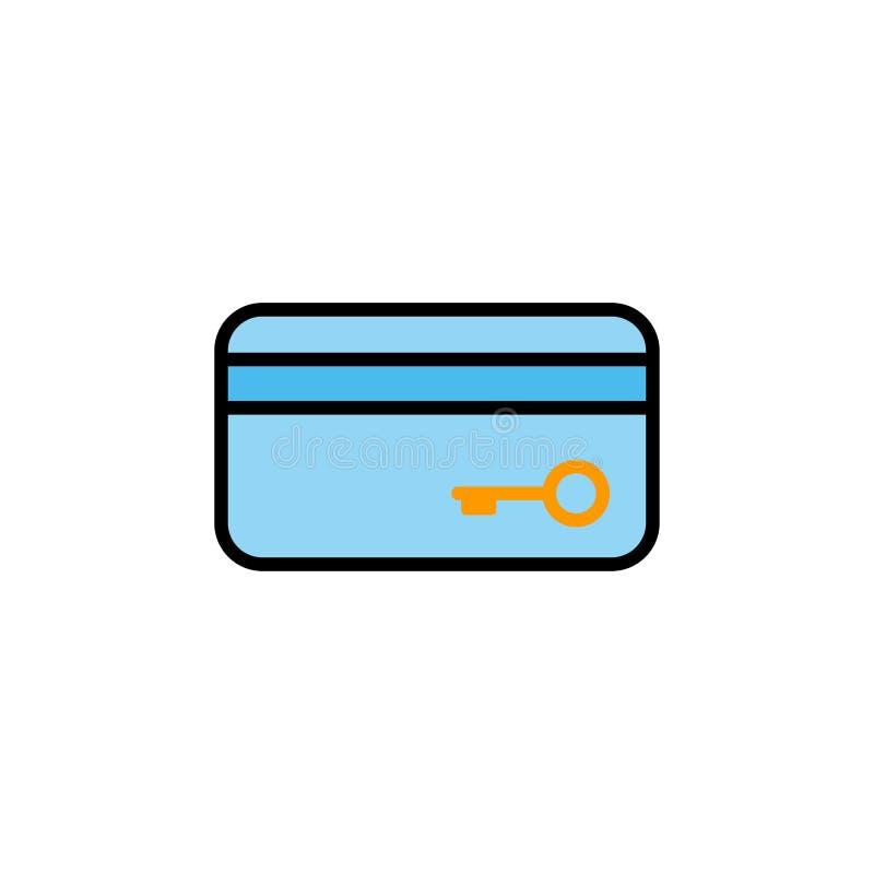 Símbolo do sinal do ícone do vetor do cartão chave ilustração do vetor