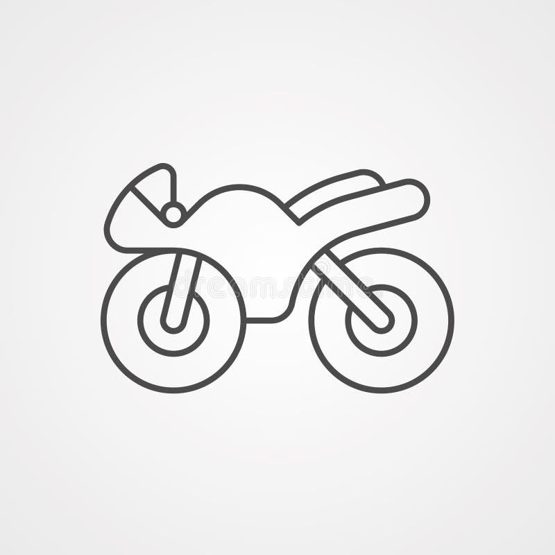 Símbolo do sinal do ícone do vetor da bicicleta ilustração stock