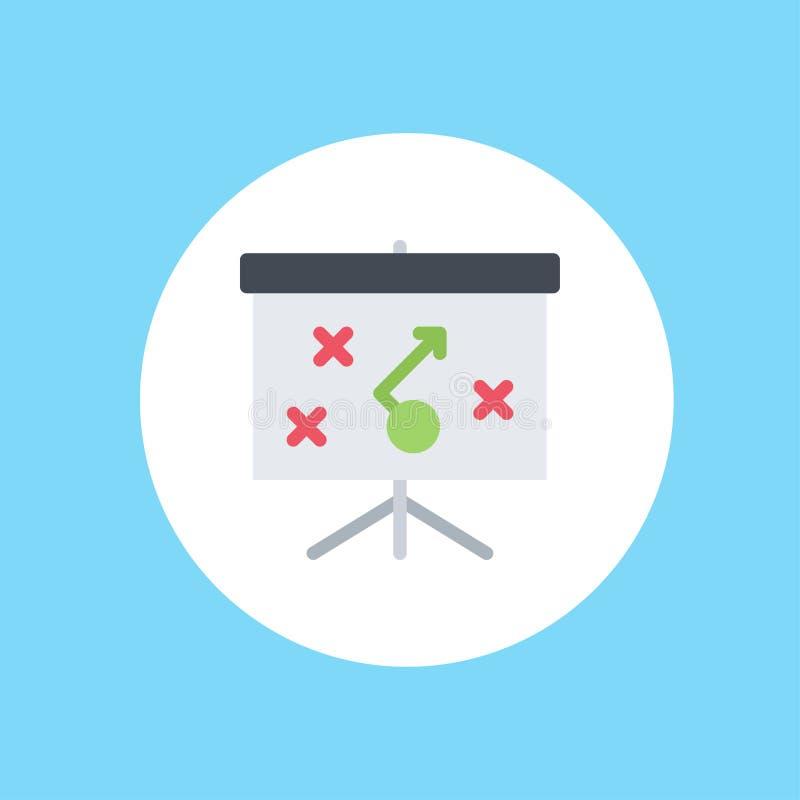 Símbolo do sinal do ícone do vetor da estratégia ilustração stock