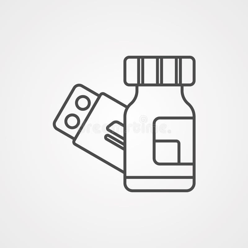 Símbolo do sinal do ícone do vetor da medicina ilustração do vetor
