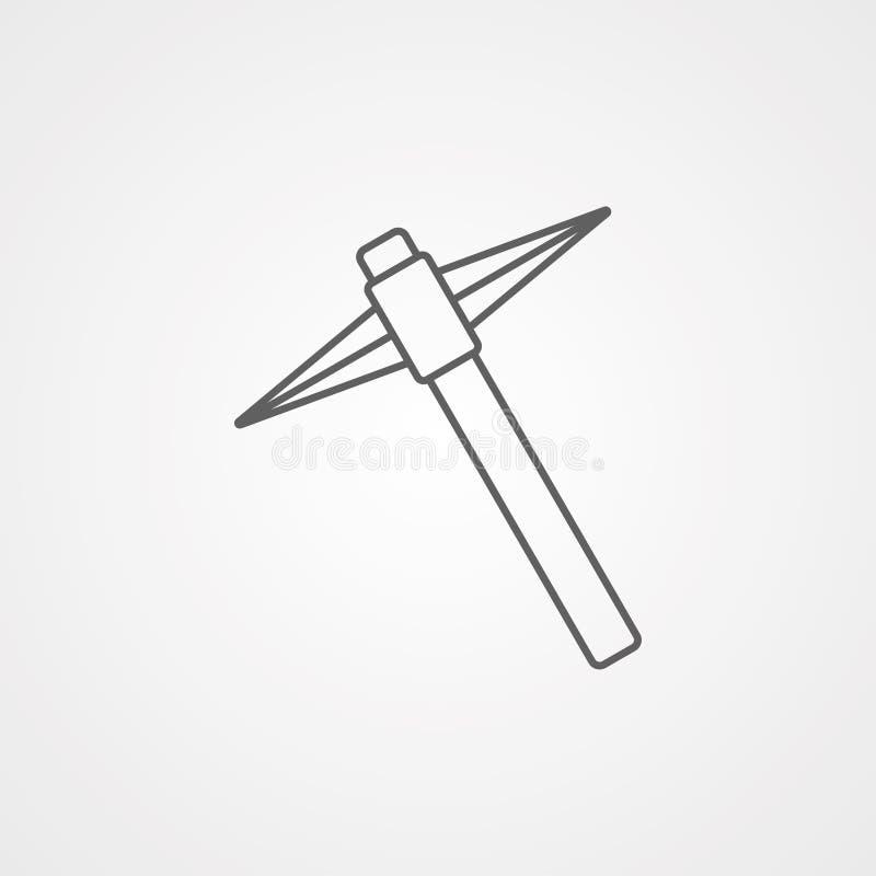 Símbolo do sinal do ícone do vetor da picareta ilustração stock
