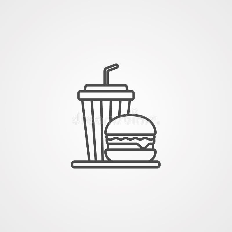 Símbolo do sinal do ícone do vetor da refeição ilustração stock