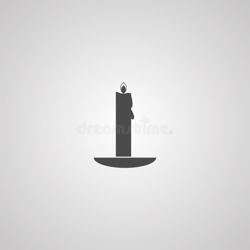 Símbolo do sinal do ícone do vetor da vela ilustração stock