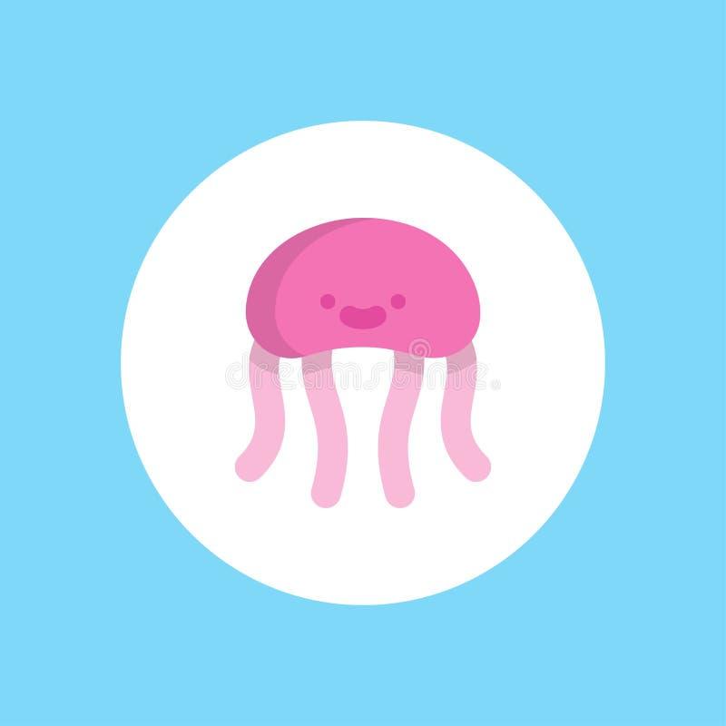 Símbolo do sinal do ícone do vetor das medusas ilustração do vetor
