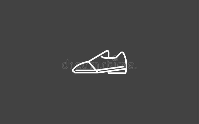 Símbolo do sinal do ícone do vetor das sapatas ilustração stock