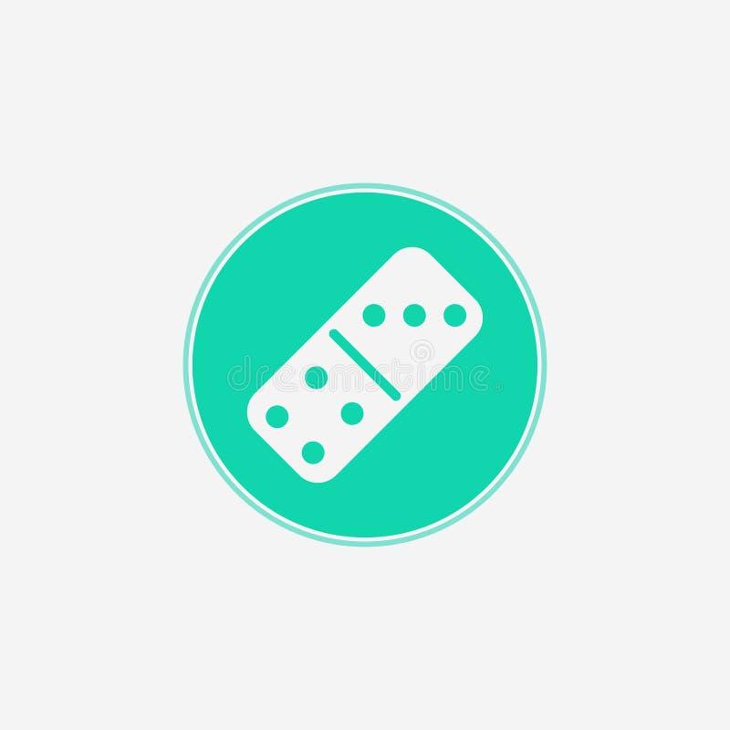 Símbolo do sinal do ícone do vetor dos dominós ilustração royalty free