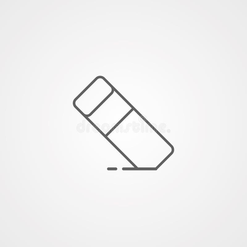 Símbolo do sinal do ícone do vetor do eliminador ilustração stock