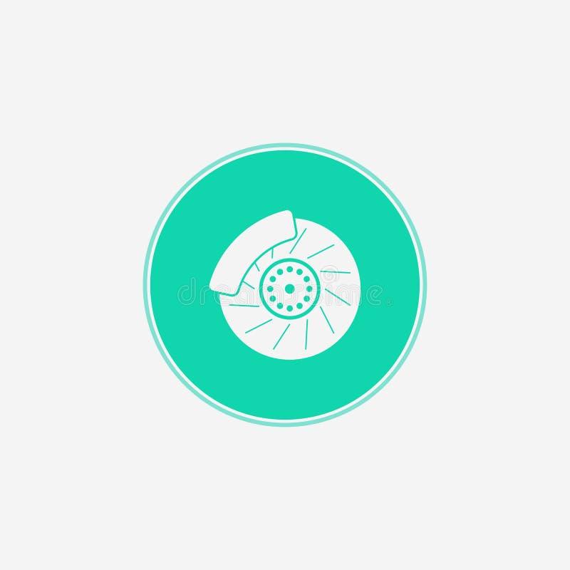Símbolo do sinal do ícone do vetor do freio do carro ilustração royalty free