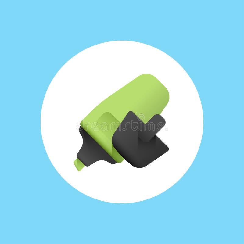 Símbolo do sinal do ícone do vetor do highlighter ilustração royalty free