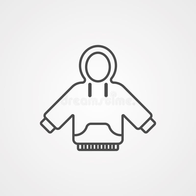 Símbolo do sinal do ícone do vetor do Hoodie ilustração royalty free