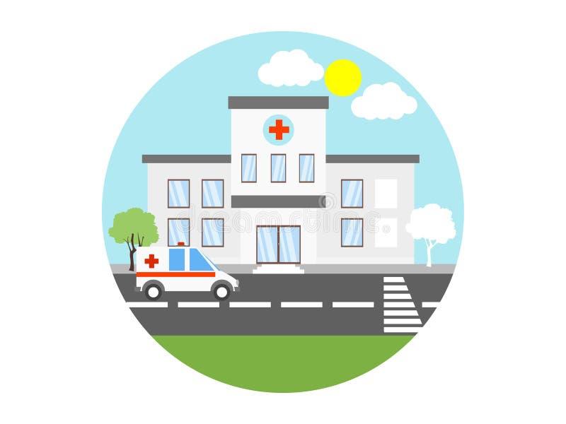 Símbolo do sinal do ícone do vetor do hospital ilustração stock