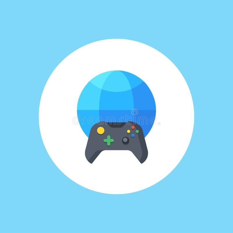 Símbolo do sinal do ícone do vetor do jogo online ilustração do vetor