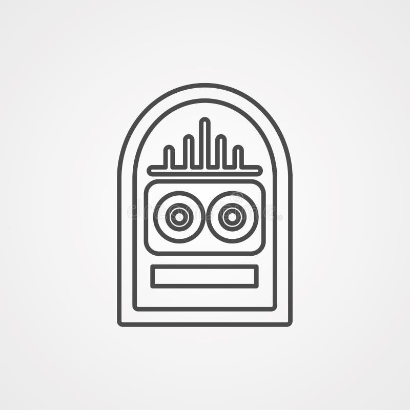 Símbolo do sinal do ícone do vetor do jukebox ilustração do vetor