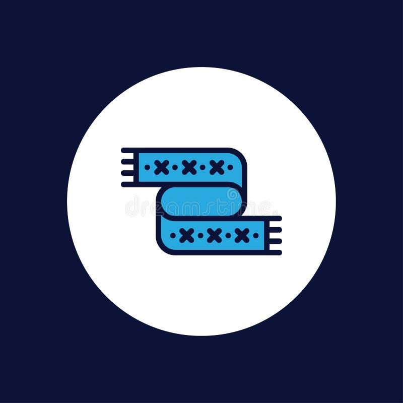 Símbolo do sinal do ícone do vetor do lenço ilustração do vetor