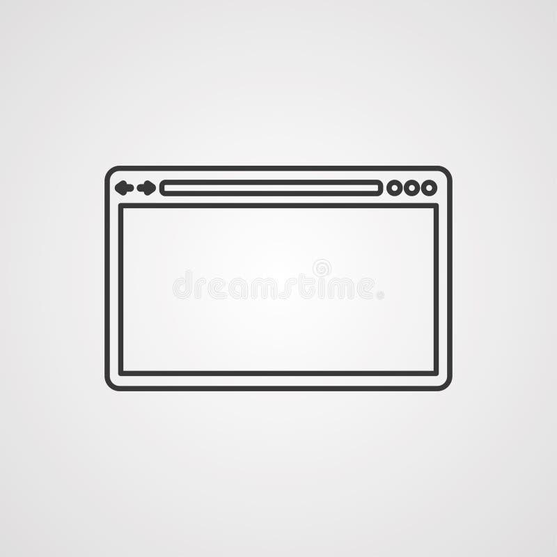 Símbolo do sinal do ícone do vetor do navegador ilustração royalty free