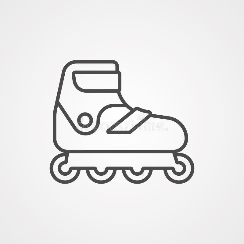 Símbolo do sinal do ícone do vetor do patim de rolo ilustração royalty free