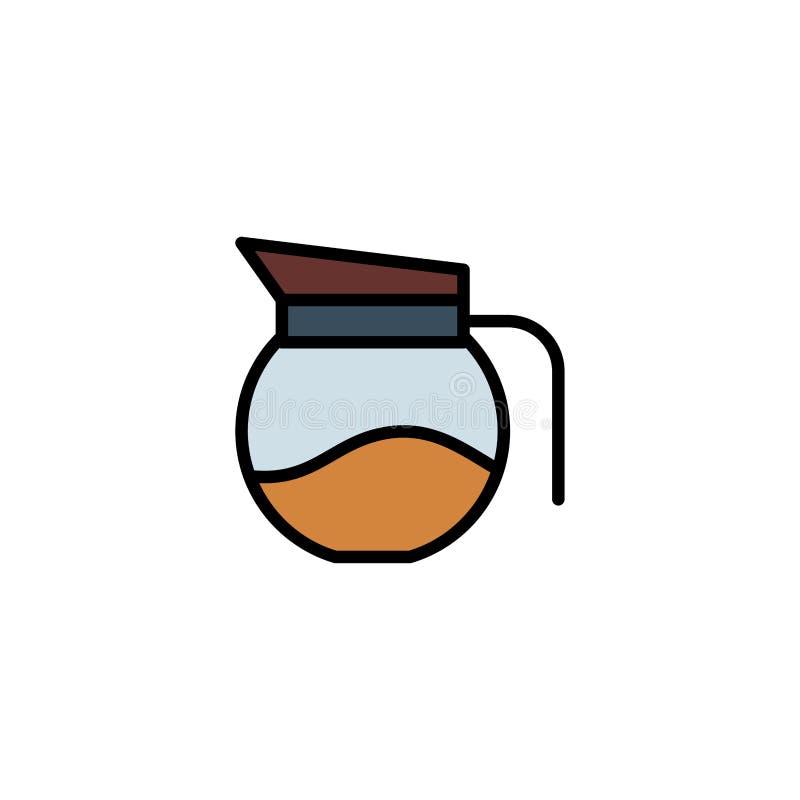 Símbolo do sinal do ícone do vetor do potenciômetro do café ilustração stock