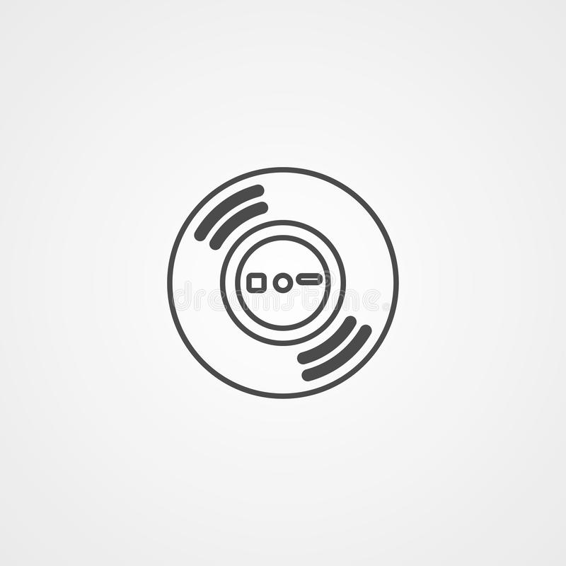 Símbolo do sinal do ícone do vetor do vinil ilustração royalty free