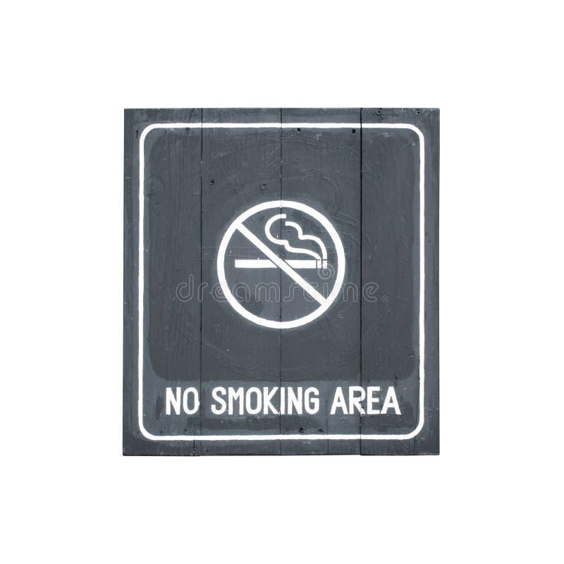 Símbolo do sinal da área não fumadores isolado no branco imagens de stock