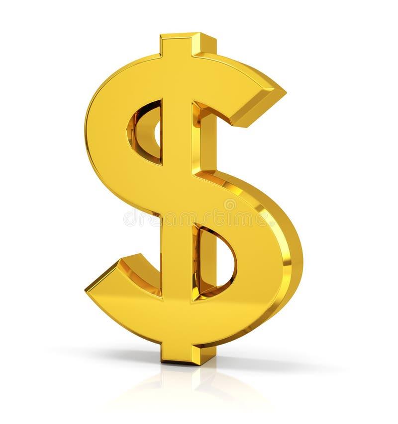 Símbolo do sinal de dólar ilustração royalty free