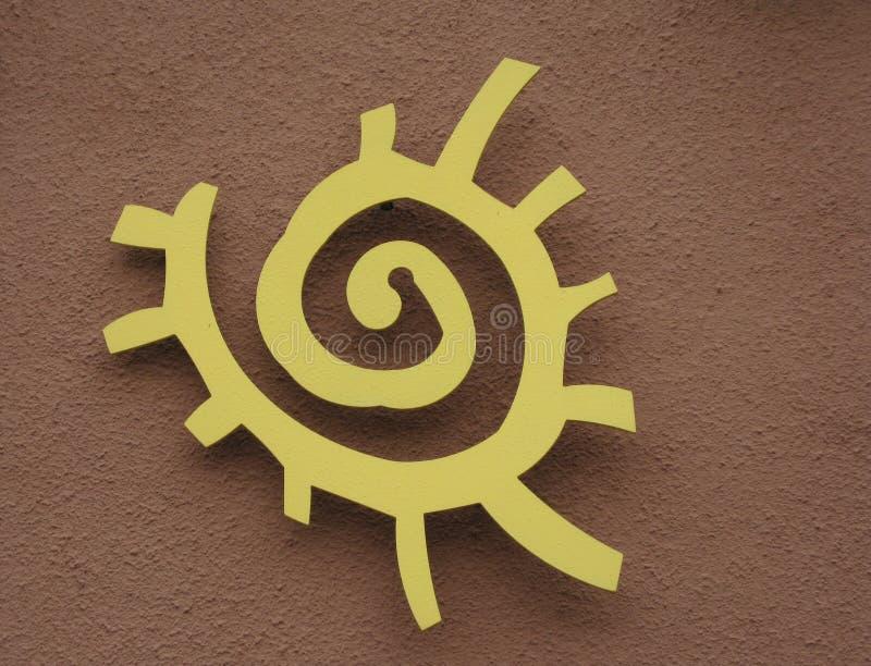 Símbolo do sol do nativo americano fotos de stock