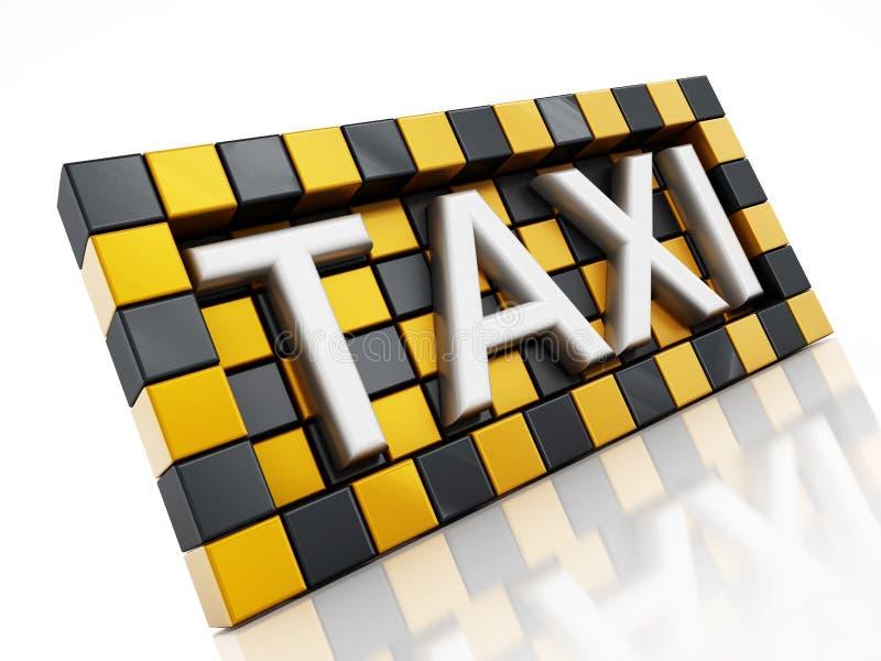 Símbolo do táxi ilustração stock