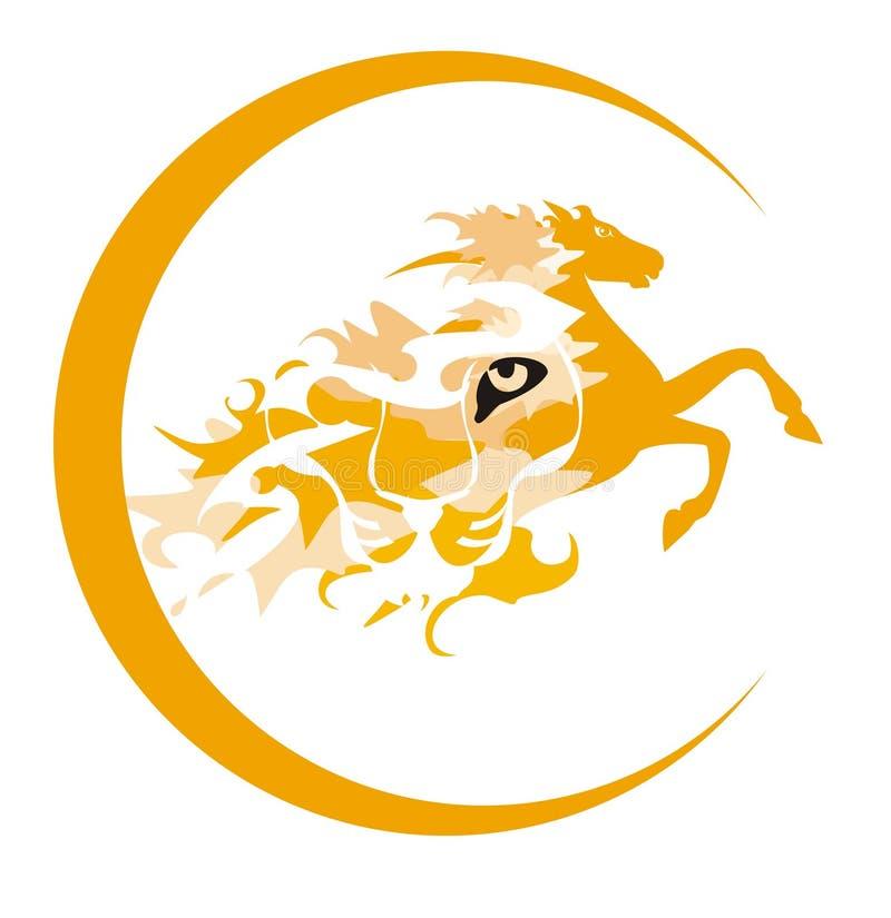 símbolo do Tigre-cavalo ilustração stock