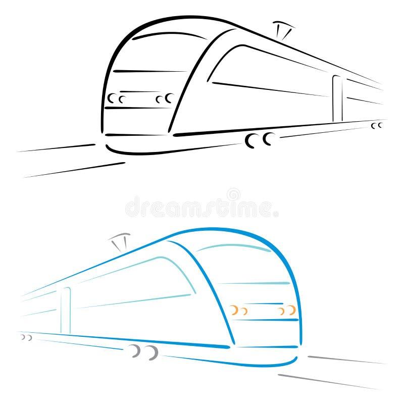 Símbolo do trem ilustração royalty free