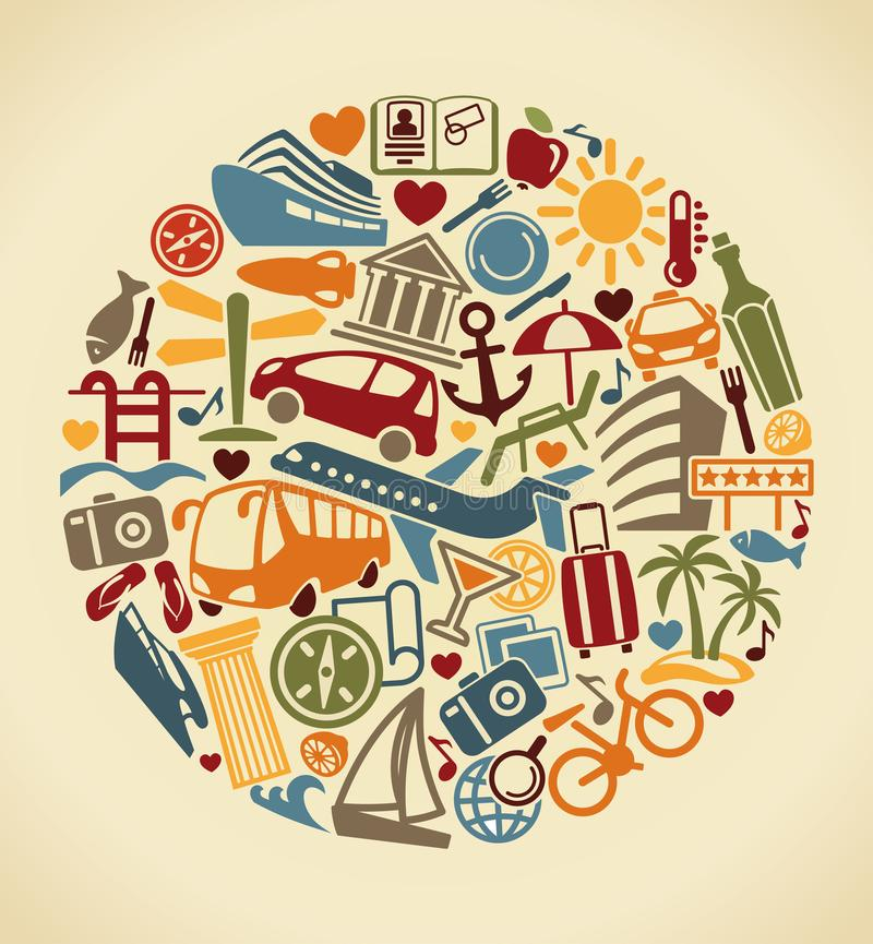 Símbolo do turismo Ilustração do vetor ilustração do vetor
