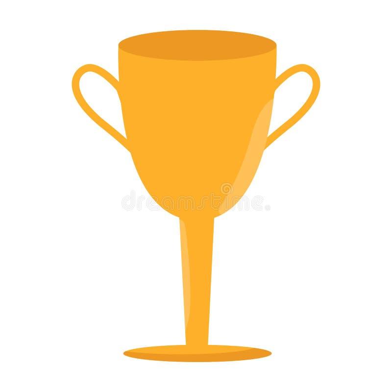 Símbolo do vencedor do campeonato Ícone do copo do vencedor Botão do troféu ilustração royalty free