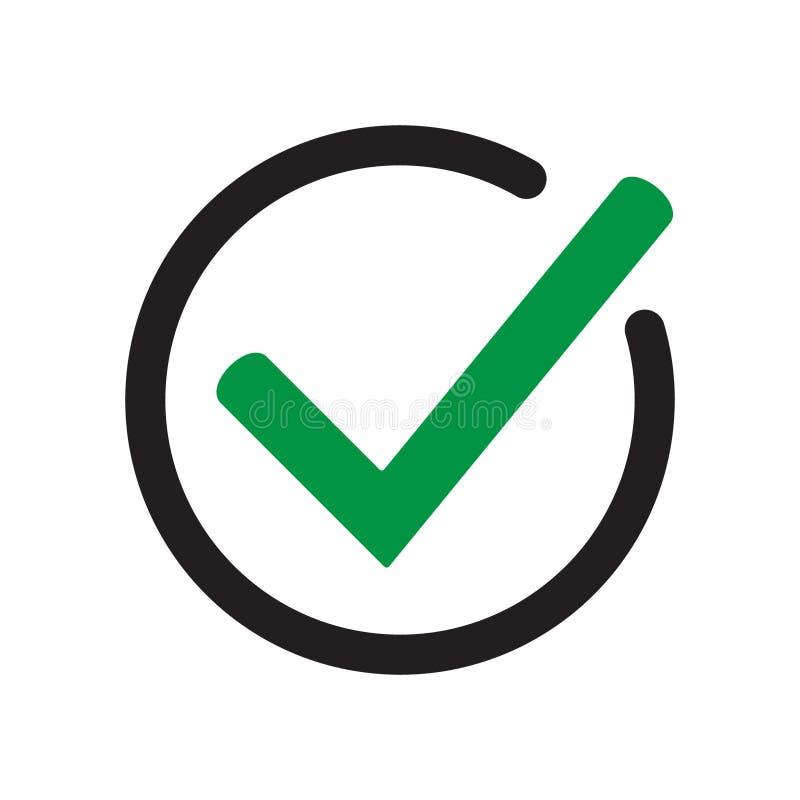 Símbolo do vetor do ícone do tiquetaque, sinal isolado no fundo branco ilustração do vetor