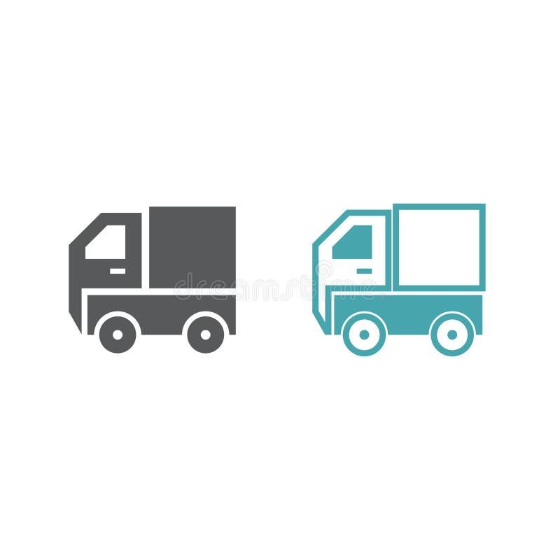 Símbolo do vetor de dois caminhões ilustração royalty free