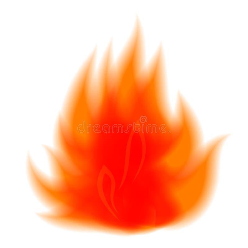 Símbolo do vetor do fogo ilustração stock