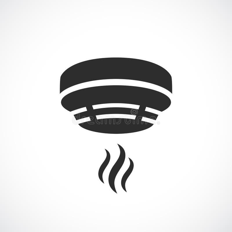Símbolo do vetor do sistema de alarme do fumo ilustração do vetor