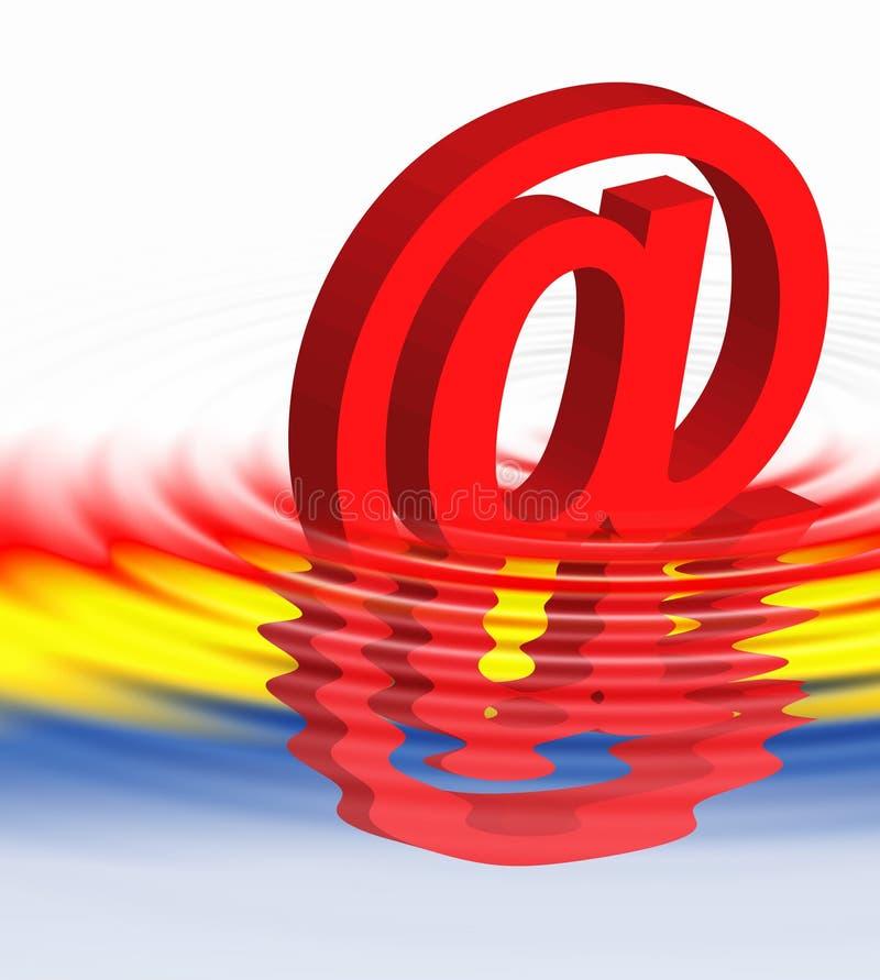Símbolo do Web   ilustração do vetor