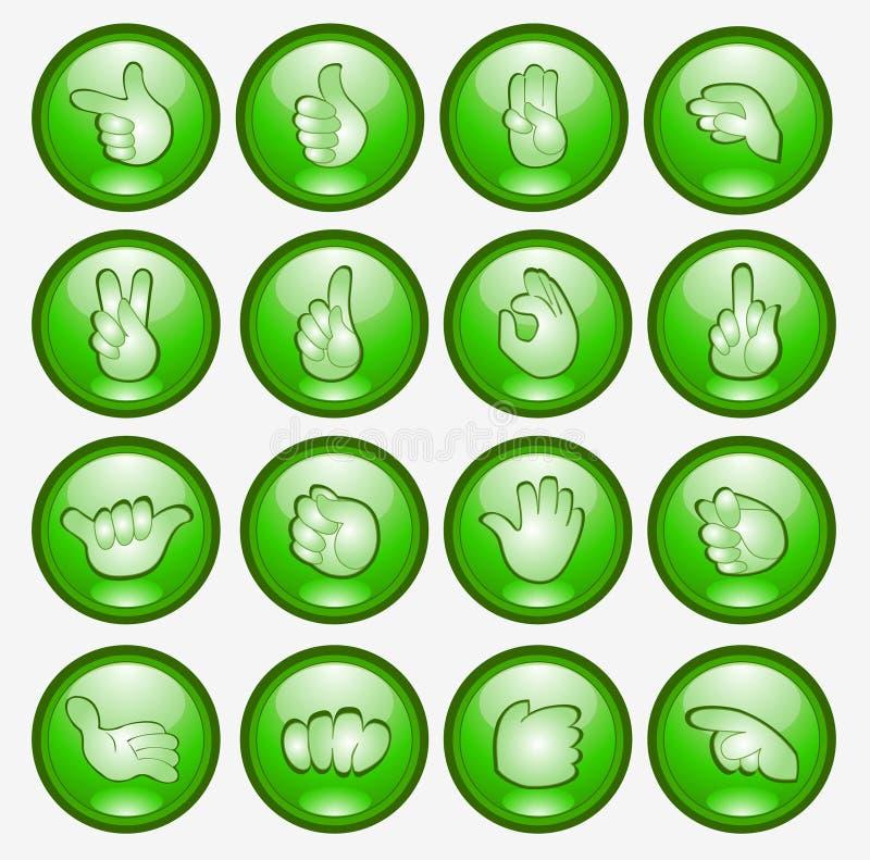 Símbolo do Web do ícone da mão do dedo da tecla ilustração royalty free