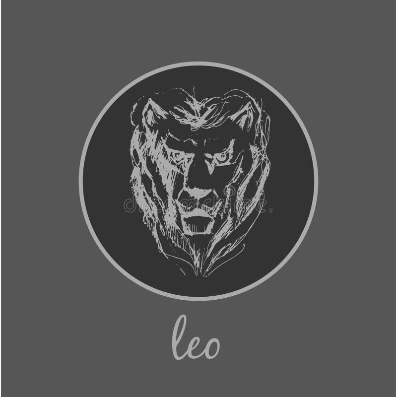 Símbolo do zodíaco de Leo Astrological Sinal do horóscopo ilustração do vetor