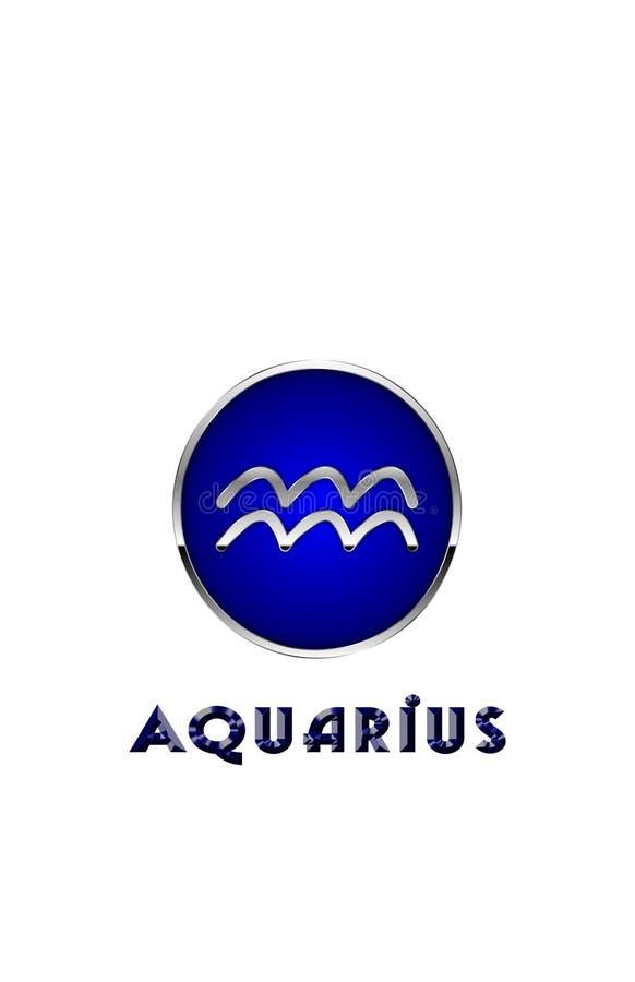 Símbolo do zodíaco para o Aquário ilustração do vetor