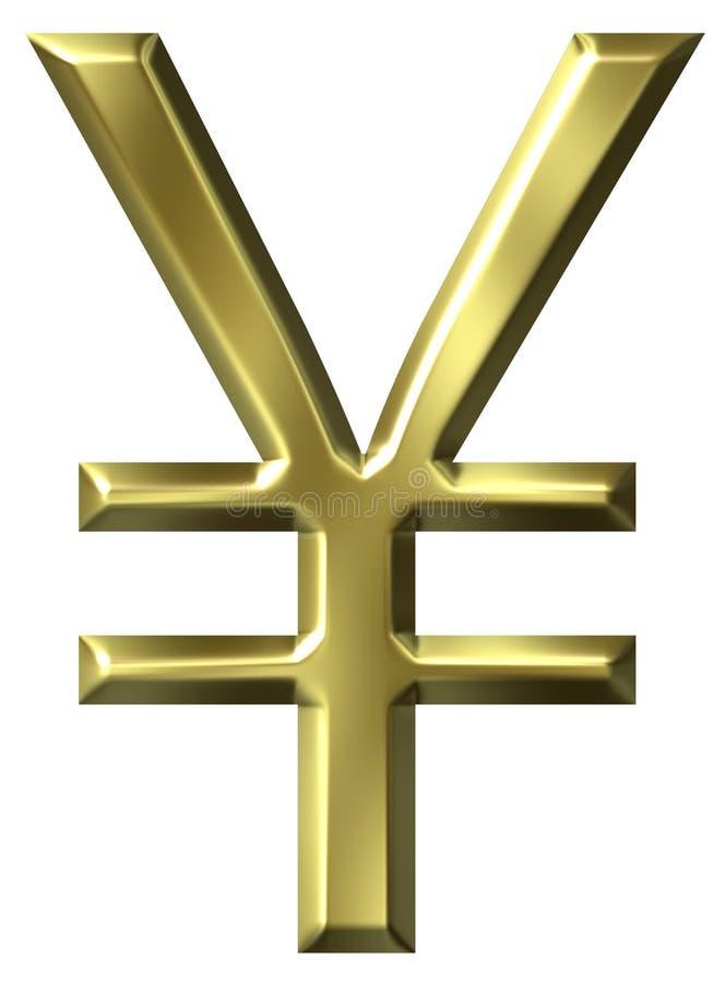 Símbolo dos ienes ilustração royalty free