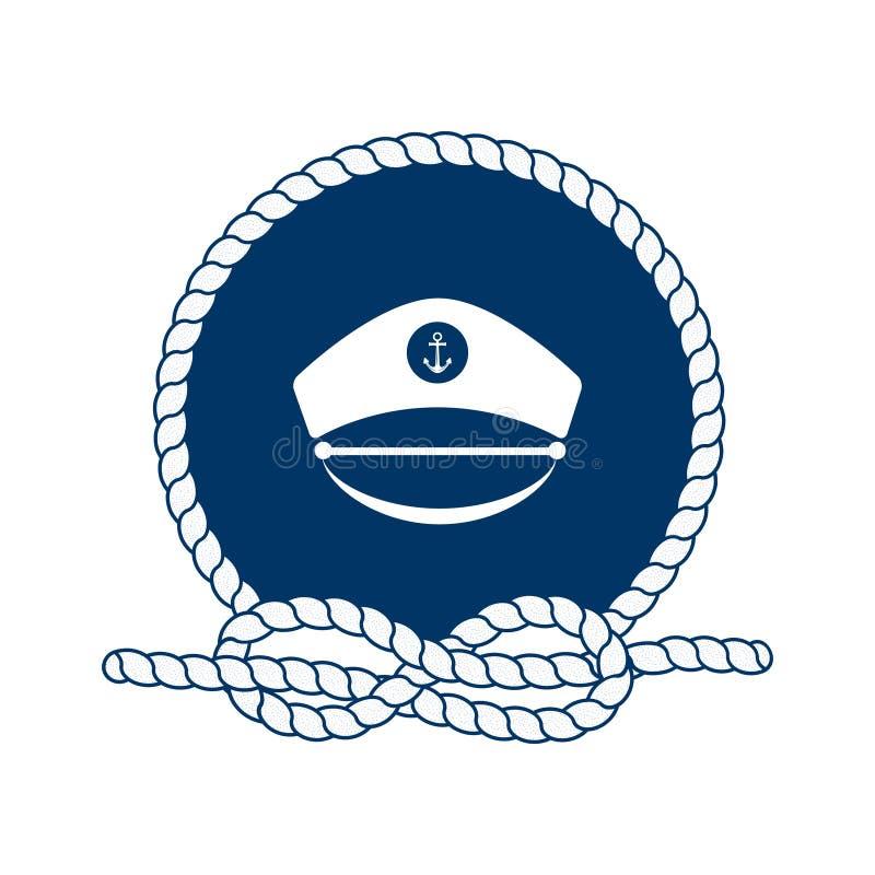 Símbolo dos marinheiros, da vela, do cruzeiro e do mar Vetor ilustração royalty free