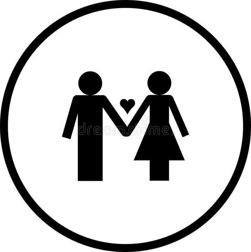 Símbolo dos pares do amor ilustração royalty free