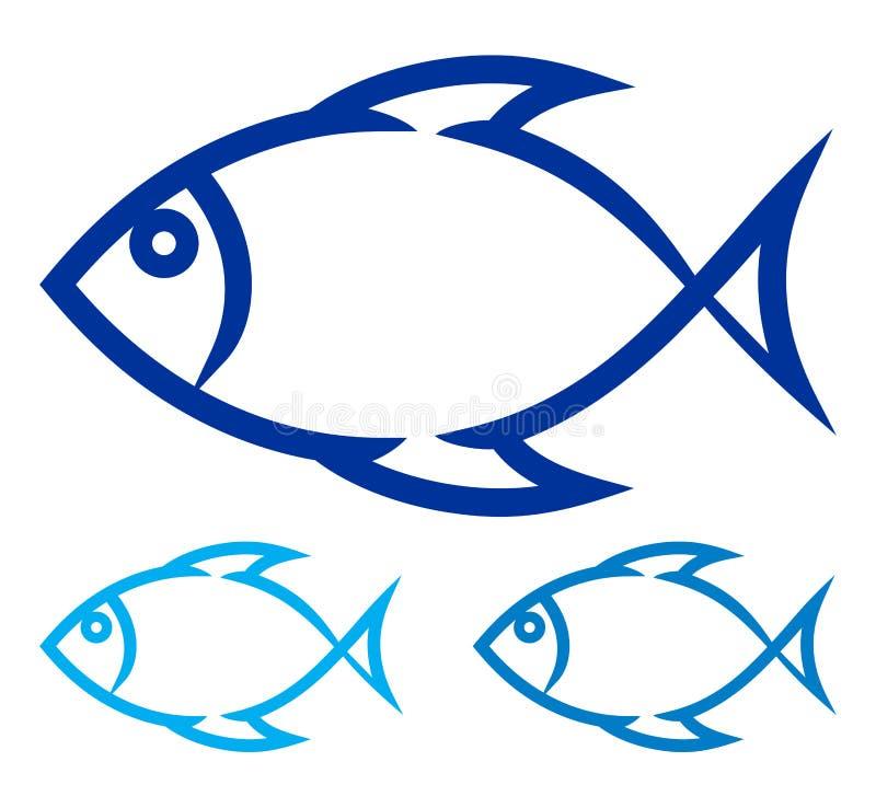 Símbolo dos peixes ilustração do vetor